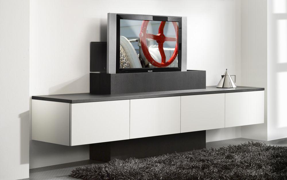 Wandkast met tv lift interstar woninginrichting jaring for Tv wandkast